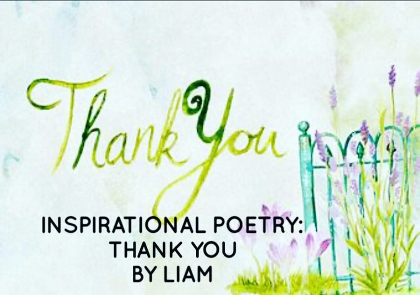 Inspirational Poetry: Thank You