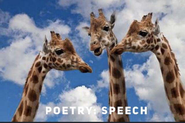 Poetry: Speech